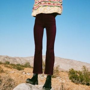 Urban Outfitters Ribbed Velvet Kick Flare Pant